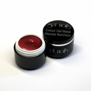 Colour Gel Metal Marsala RedVision 5g