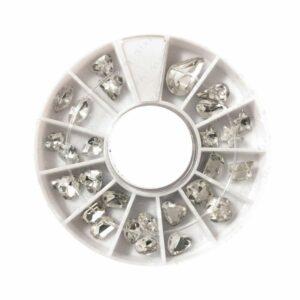 Nail Art Stein/Kristall, verschiedene Größen im Rad
