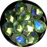 Crystal Bling Light Green, 10 Stk.