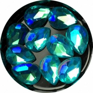 Crystal Bling Turquoise, 10 Stk.