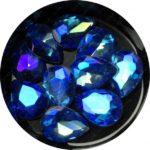 Crystal Bling Blue, 10 Stk.