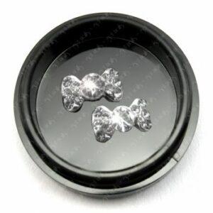 Einlegemotiv Silber Strass L, 2 Stk.