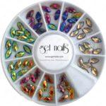 Chrome Steine verschiedne Farben, im Rad
