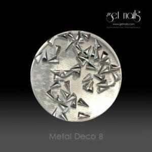 Metal Deco 8 Silver, 50 Stk.