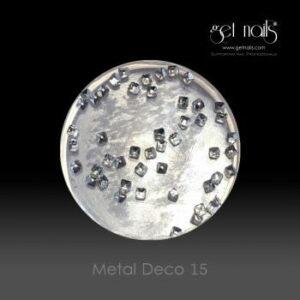 Metal Deco 15 Silver, 50 Stk.