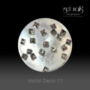 Metal Deco 17 Silver, 20 Stk.