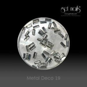 Metal Deco 19 Silver, 50 Stk.