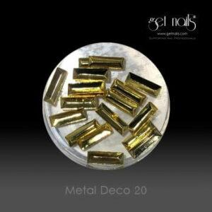 Metal Deco 20 Gold, 20 Stk.