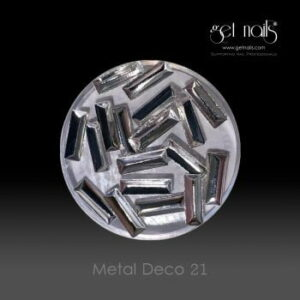 Metal Deco 21 Silver, 20 Stk.