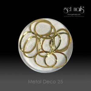 Metal Deco 25 Gold, 10 Stk.