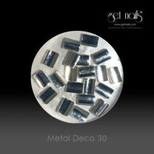 Metal Deco 30 Silver, 20 Stk.