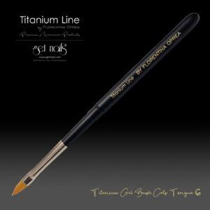 Titanium Gel Pinsel Katzenzunge 6