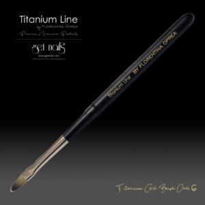 Titanium Gel Pinsel Oval Nr. 6
