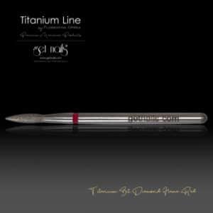 Titanium Bit Diamond Flame Red